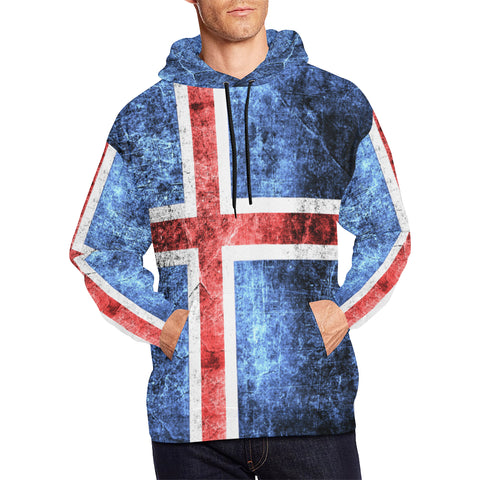 ICELAND FLAG  ALL OVER PRINT HOODIE A1