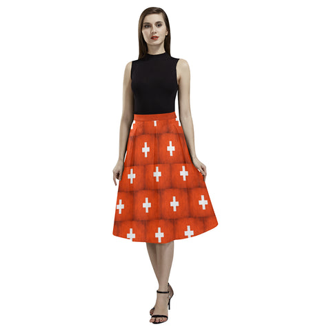 SWITZERLAND 02 FLAG AOEDE CREPE SKIRT A1