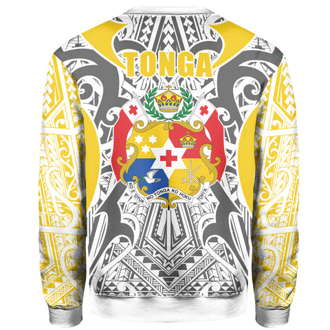 Image of Tonga Sweatshirt - Kingdom of Tonga - Gold Ver J0