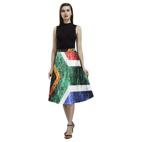 SOUTH AFRICA FLAG AOEDE CREPE SKIRT A1