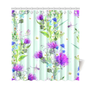 Thistle 17 Shower Curtain A1