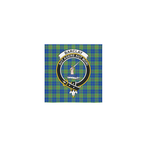 Image of Barclay Hunting Ancient Tartan Towel Clan Badge | 1sttheworld.com