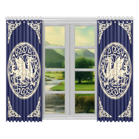 Image of Welsh Dragon Window Curtain - Bn02 | 1sttheworld.com