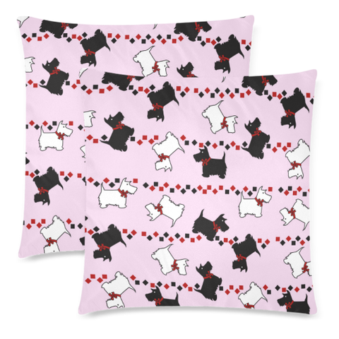 Love The World | Scotland Pillow Case - Scottish Terrier Pattern | Special Custom Design