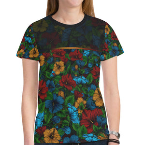 Hawaii Hibiscus Bloom All Over Print Women T-Shirt H1