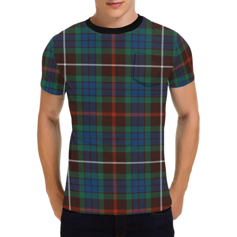 Image of Fraser Hunting Ancient Tartan T-Shirt | Scottish Pocket Tees | Men & Women Clothing