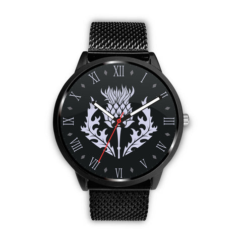 Scotland - Scottish Thistle Symbols (men's/women's) leather/steel watch