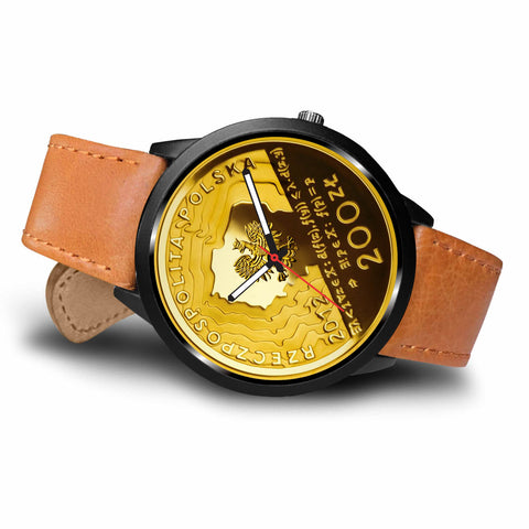 Poland Coin Leather-Steel Watch 01 K7