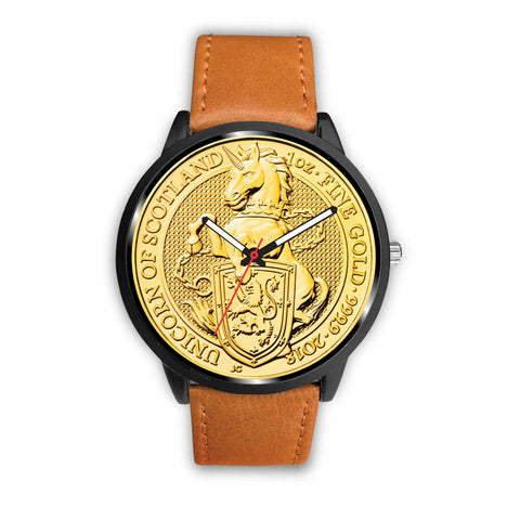 Scotland Coin Leather-Steel Watch 02 K5