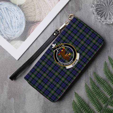 Image of BAIRD  TARTAN CLAN BADGE ZIPPER WALLET HJ4