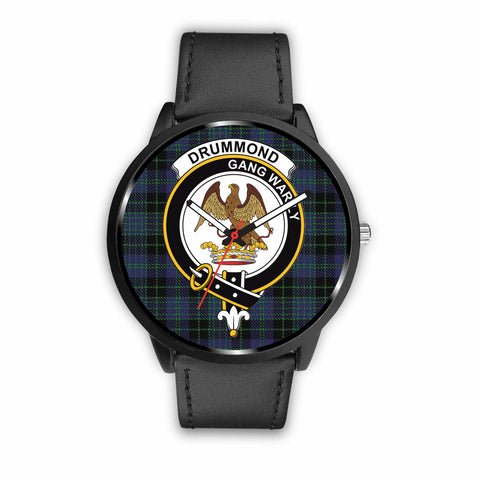 Image of Cargill Clan Badge Tartan Leather-Steel Watch - BN04