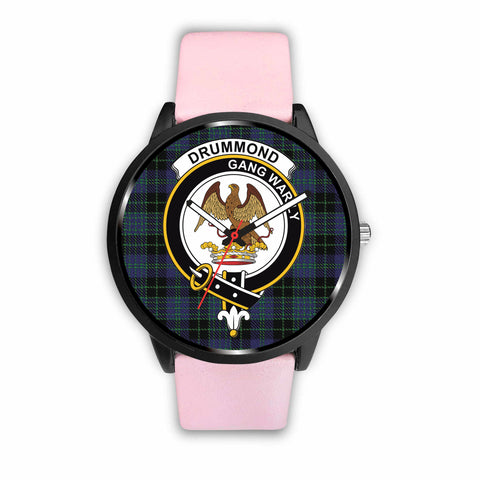 Cargill Clan Badge Tartan Leather-Steel Watch - BN04
