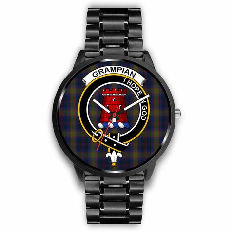 Image of Grampian Clan Badge Tartan Leather/Steel Watch - BN