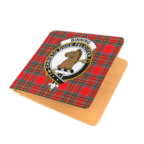 BINNING (OF WALLIFOORD) CLAN TARTAN MEN WALLET A9