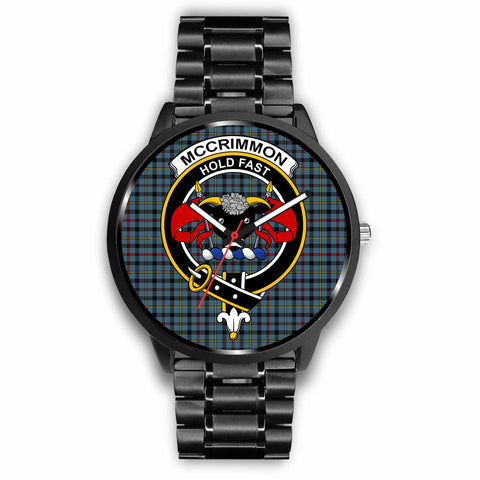 McCrimmon Clan Badge Tartan Leather/Steel Watch - BN