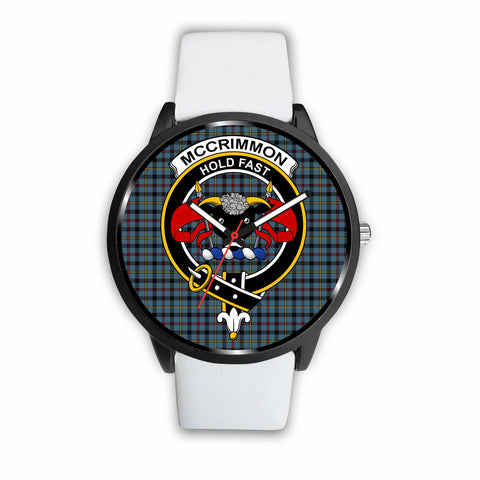 Image of McCrimmon Clan Badge Tartan Leather/Steel Watch - BN