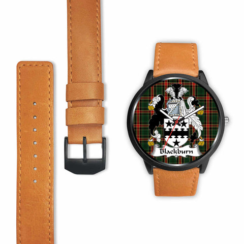 Image of Blackburn Clan Badge Tartan Leather/Steel Watch - BN