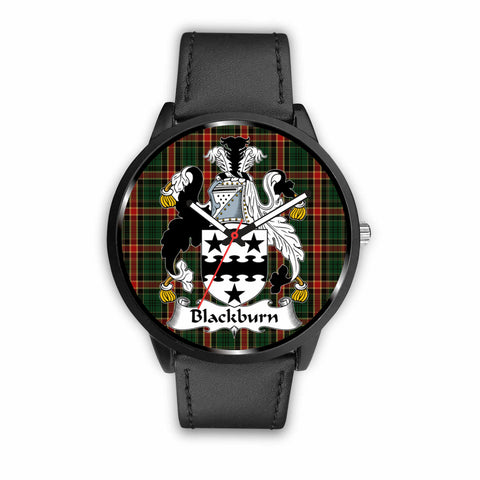 Blackburn Clan Badge Tartan Leather/Steel Watch - BN