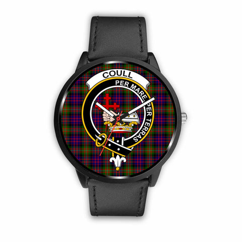 Image of Coull Clan Badge Tartan Leather/Steel Watch - BN