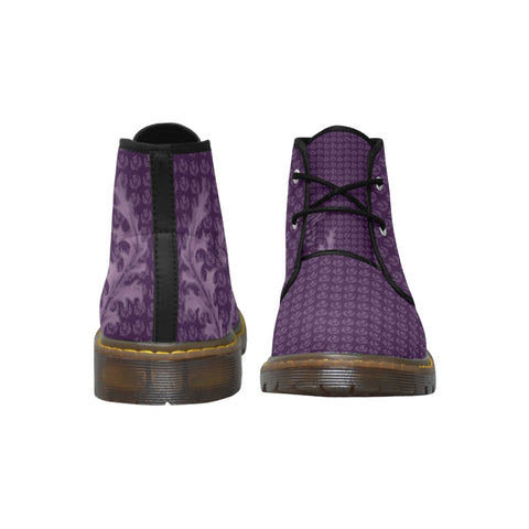 Image of Scotland Nubuck Chukka Boots - Scottish Thistle Purple Edition A7