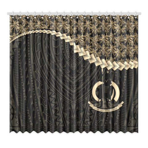 Image of Vanuatu Window Curtain Coconut Golden | Home Decor | 1sttheworld