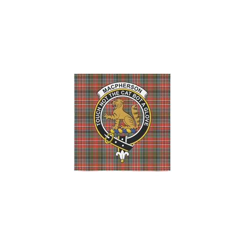 MacPherson Weathered Tartan Towel Clan Badge | 1sttheworld.com