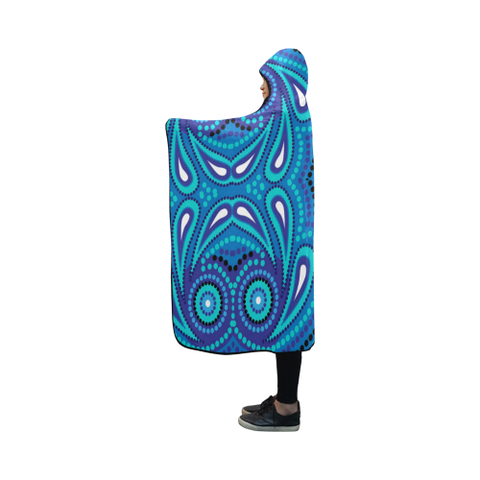 Australia Aboriginal 06 Hooded Blanket H7 | Love The World