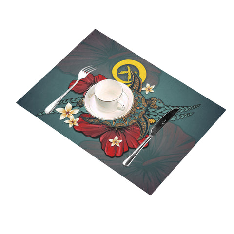Image of Vanuatu Placemat - Blue Turtle Tribal A02