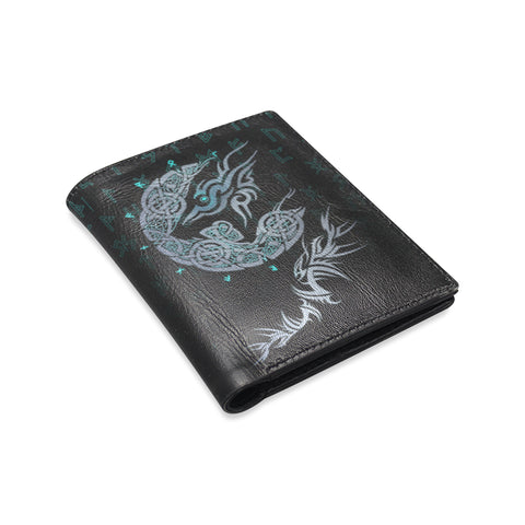 Viking Wolf Leather Wallet A7