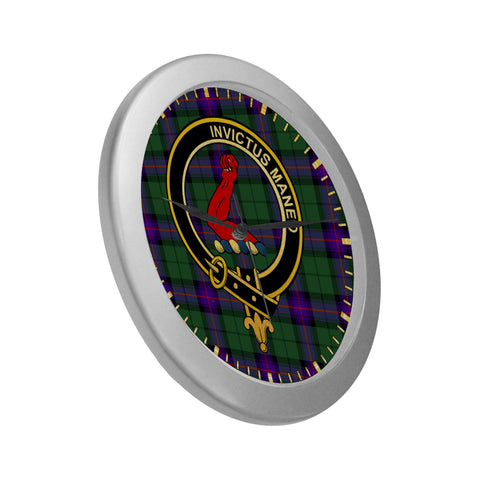 Image of ARMSTRONG CLAN TARTAN WALL CLOCK A9