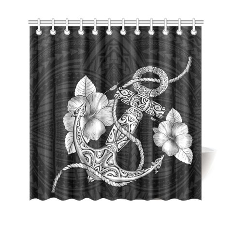 Hawaii Shower Curtain - Hawaiian Polynesian Hibiscus H4