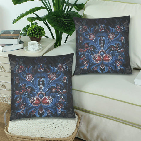 Norway Cover- Rosemaling Pillow Cover Nn2 | 1sttheworld.com