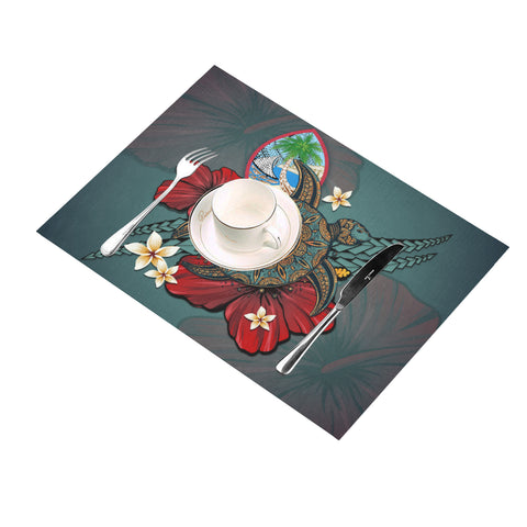 Image of Guam Placemat - Blue Turtle Tribal A02