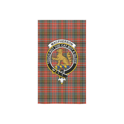 Image of MacPherson Weathered Tartan Towel Clan Badge NN5