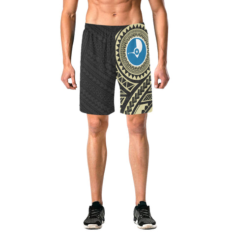 Image of Yap Polynesian Beach Shorts Yellow | Micronesia