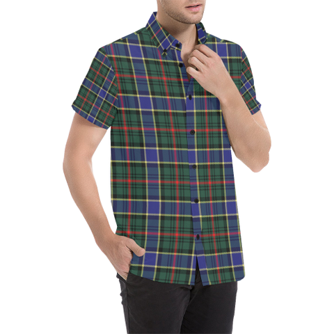Tartan Short Sleeve Shirt - Ogilvie Clan | Exclusive Over 300 Clans and 500 Tartans