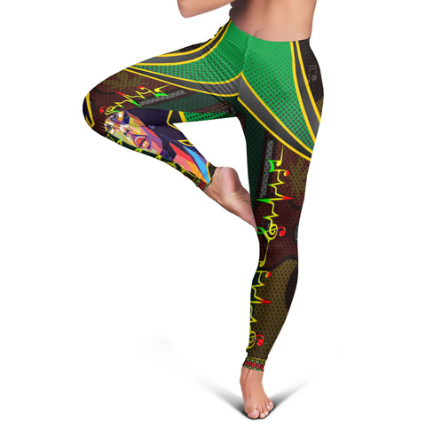 Image of 1sttheworld Leggings - Jamaica Bob Marley - BN17