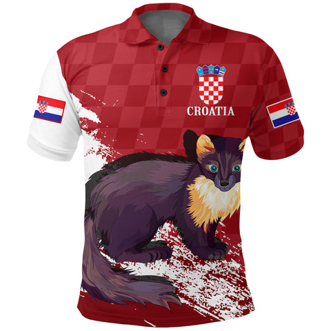 Image of (Hrvatska) Croatia Polo Shirt - Marten A7