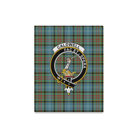 Tartan Canvas Print - Caldwell Clan | Over 300 Scottish Clans and 500 Tartans