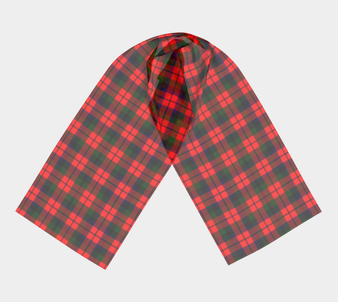 Tartan Long Scarf - Macnaughton Modern - Bn04 |Women's Clothing| 1sttheworld