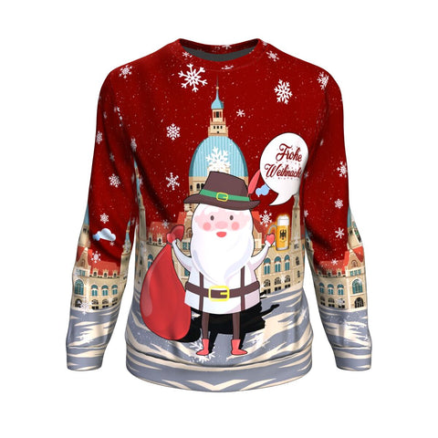 Image of Germany Sweatshirt Christmas Frohe Weihnachten A7