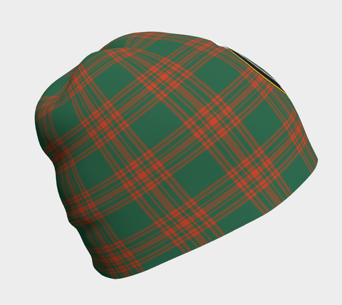 Image of Menzies Green Ancient Tartan Clan Crest Beanie