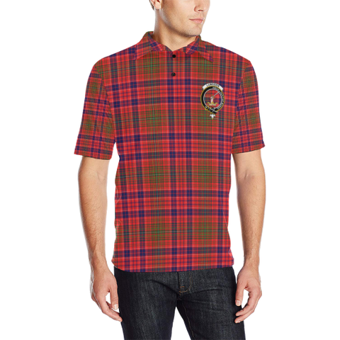 Lumsden Modern Tartan Clan Badge Polo Shirt HJ4