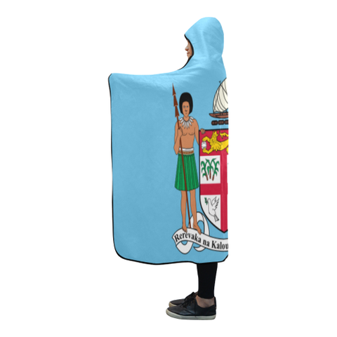 Fiji Coat Of Arms Hooded Blanket TH7