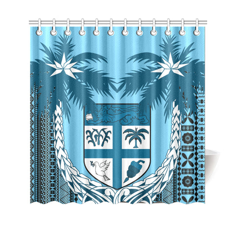 Fiji Tapa Coconut Shower Curtain | Love the World
