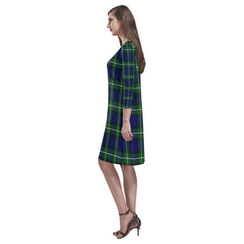 Image of Tartan dresses - Forbes Modern Tartan Dress - Round Neck Dress - BN