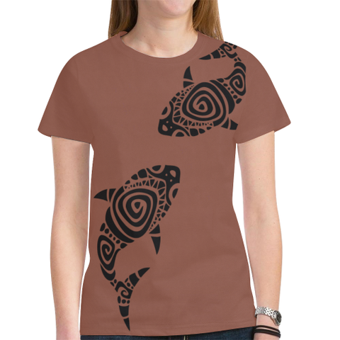 Hawaii T-shirt - Brown t shirt - t-shirt women - t-shirt men