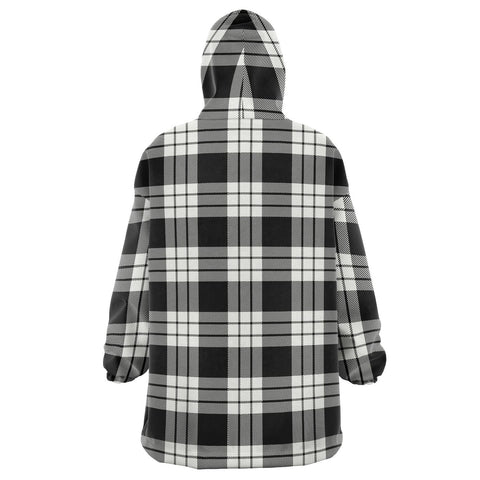 MacFarlane Black & White Ancient Snug Hoodie - Unisex Tartan Plaid Back
