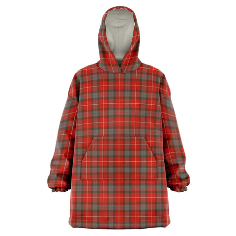 Image of Fraser Weathered Snug Hoodie - Unisex Tartan Plaid Front