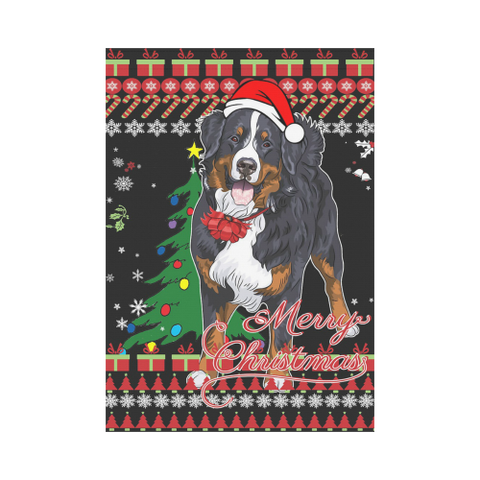 Image of Christmas Garden Flag - Swiss Bernese Mountain Dog K5